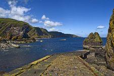 Free Pettico Wick, St Abbs Head, Berwickshire, Scotland Stock Images - 6722344