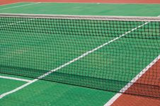 Free Tennis Court With A Net Royalty Free Stock Photos - 6722488
