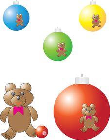 Christmas Color Balls Stock Image