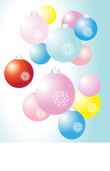 Christmas Balls Background Royalty Free Stock Photography