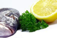 Free Fish, Parsley And Lemon 2 Royalty Free Stock Images - 6722769