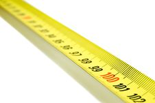 Measurement Tape Bias Royalty Free Stock Photo