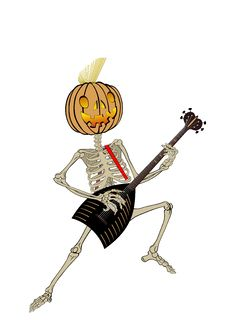 Free Pumpkin-guitarist 2 Royalty Free Stock Image - 6723546