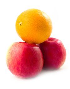 Free Orange On Apples Stock Image - 6724121