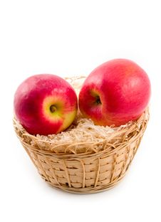 Free Ripe Apples In Basket Stock Photo - 6724200