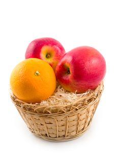 Useful Fruit Orange And Apples Royalty Free Stock Photo