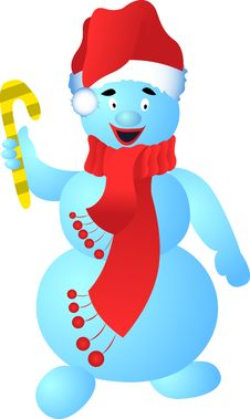 Free Cool Snowman Royalty Free Stock Photography - 6724337