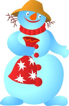 Free Cool Snowman Royalty Free Stock Photography - 6724347