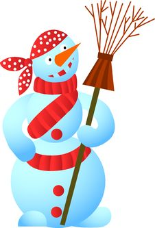 Free Cool Snowman Royalty Free Stock Image - 6724356