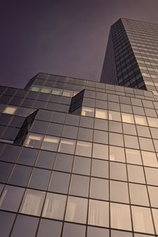 Free Violet Sci-fi Skyscraper Stock Photo - 6724420