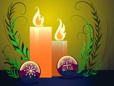 Free Candle And Balls Royalty Free Stock Photo - 6724795