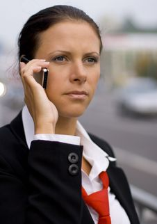 Free Businesswoman Talking By Mobile Phone Stock Photos - 6725153