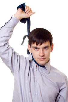Free Young Man Hanging Himself On A Tie Stock Photo - 6725330