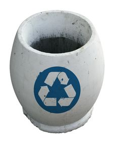 Free White Empty Trash With Recycle Stock Photos - 6725743