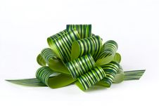 Free Green Ribbon Bow Stock Photo - 6725790