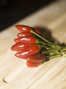 Garlic And Chili Pepper Stock Image