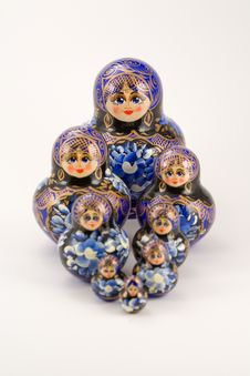 Free Russian Stacking And Nesting Dolls Stock Images - 6726474