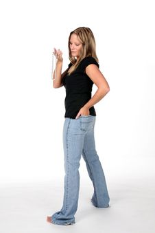 Free Sexy Woman In Tight Jeans Stock Images - 6726534