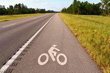 Free Bicycle Lane Royalty Free Stock Photos - 6726838