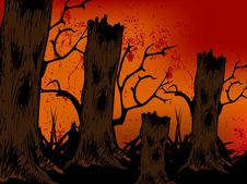 Free Happy Halloween Fantasy Tree Stock Images - 6727164