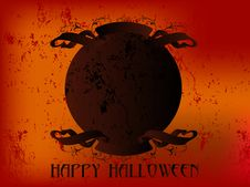 Free Happy Halloween Ribbon Stock Image - 6727221