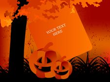 Free Happy Halloween Greeting Card Royalty Free Stock Images - 6727339