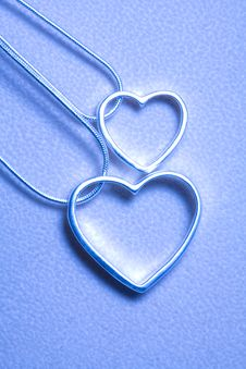 Two Hearts Necklace Royalty Free Stock Photos