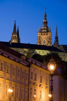 Free Sunset Scenery In Prague Royalty Free Stock Image - 6727986