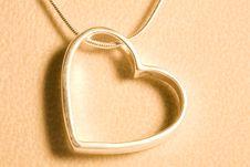 A Hearts Necklace Royalty Free Stock Photos