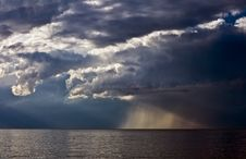 Sea And Storm Cloud Royalty Free Stock Photography