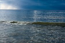 Sea And Storm Cloud Royalty Free Stock Photos