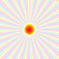 Sun Ray Background Royalty Free Stock Image