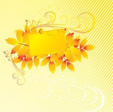 Autumn Foliage Frame Royalty Free Stock Photo