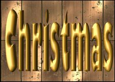 Free Christmas In Gold 3D Stock Photos - 6729143