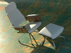 Free Modern White Chair Stock Photography - 6729352