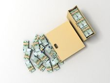 Free Bundles Of One Hundred Euro Bills Stock Images - 6729404