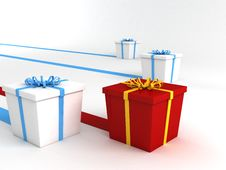 Free Series Of Wrapped Gifts Royalty Free Stock Image - 6729436