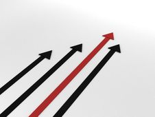 Upwards Direction Of Success Arrows Royalty Free Stock Photo