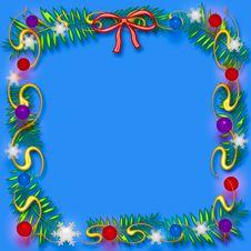 Free Christmas Scrapbook Frame Stock Photography - 6729512