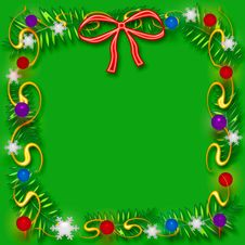 Free Christmas Scrapbook Frame Stock Image - 6729531