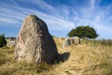 Gravesite Stones Royalty Free Stock Photography