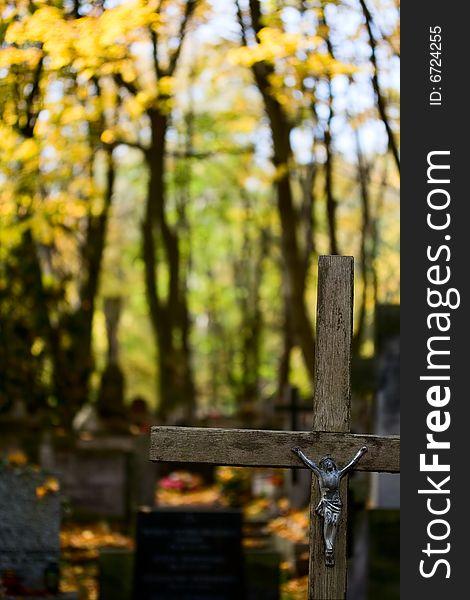 Cross on cementery