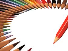 Free Pencil And Frame Of Colored Pencils Royalty Free Stock Images - 67226839