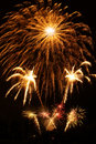 Free Golden Fireworks Stock Photography - 6732712