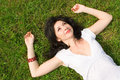 Free Woman Rest On The Grass Royalty Free Stock Photography - 6735797