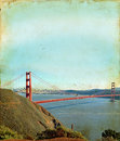 Free Golden Gate Bridge On A Grunge Background Stock Images - 6738344