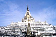 Religious Thai Monument Royalty Free Stock Images