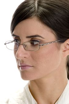 Free Close Up Lady Looking Side Royalty Free Stock Photos - 6730498
