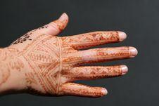 Free Henna Hand Royalty Free Stock Photos - 6730708