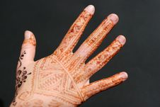 Free Henna Hand 2 Stock Images - 6730824